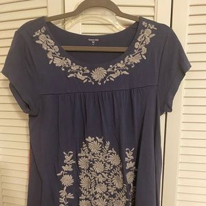 Soft! Embroidered top from Garnet Hill.